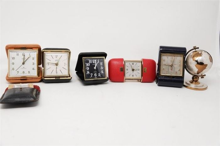 293. Group Of Travel Clocks and Watches