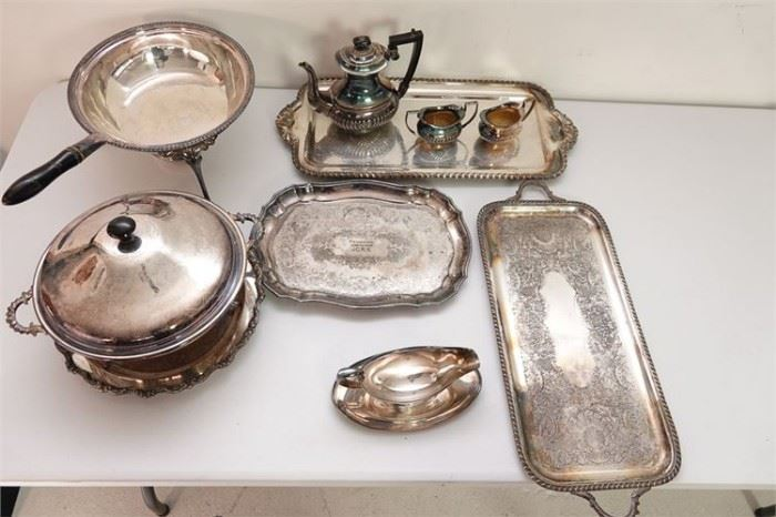 300. Group Lot of Silverplated Items