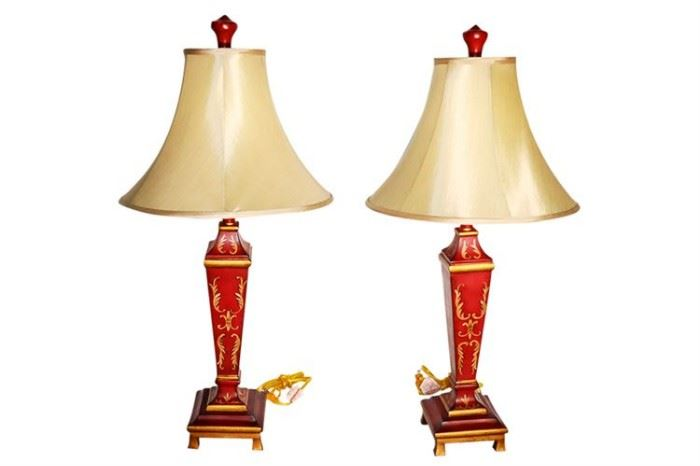 332. Two Decorative Table Lamps With Shades