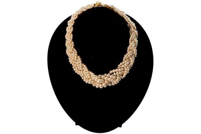 341. Costume Multi Strand Pearl Choker