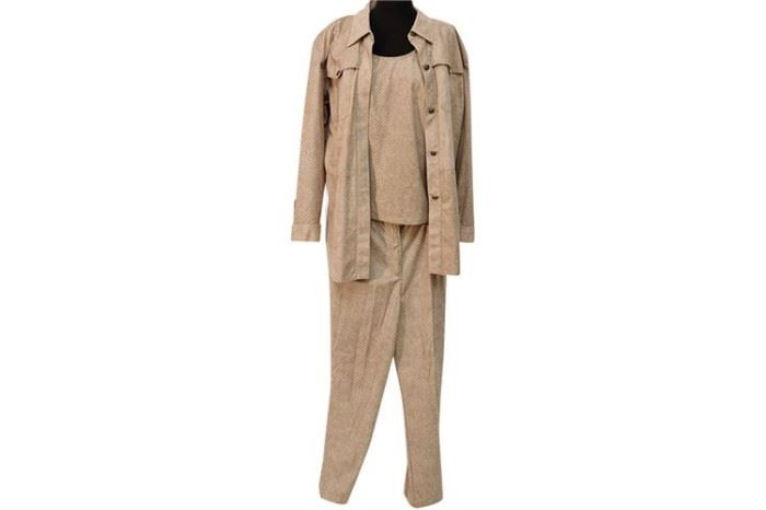 359. ST GERMAIN Three Piece Leather Suit