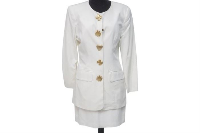 396. Ladys Summer Suit in White by NINA K