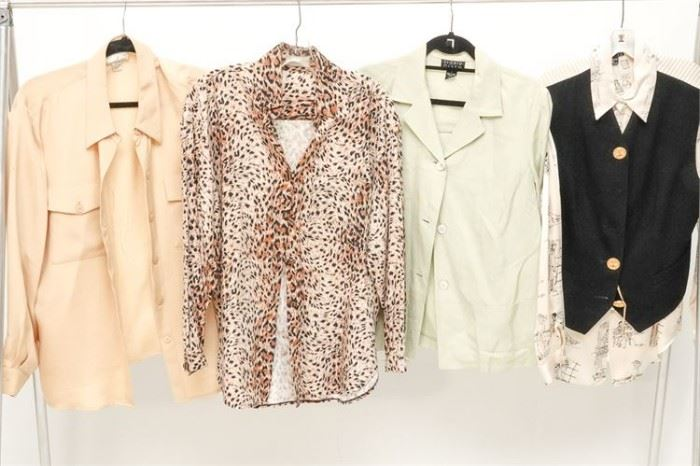 405. Group Lot of Four 4 Womens Blouses