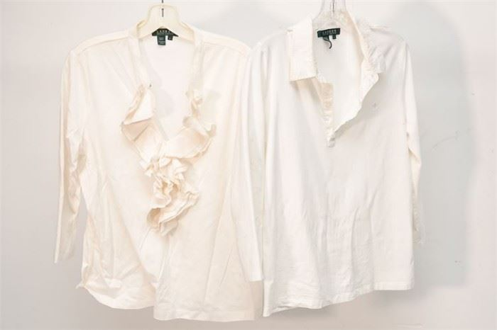 412. Lot of Two 2 Ladys Blouses by LAUREN
