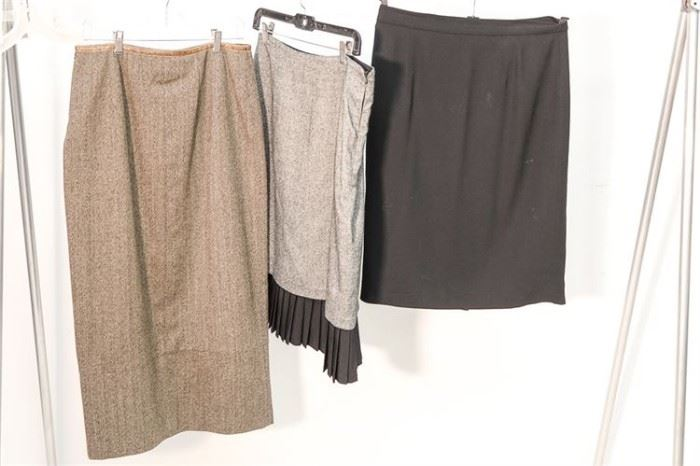 415. Group Lot of Three 3 Womans Skirts