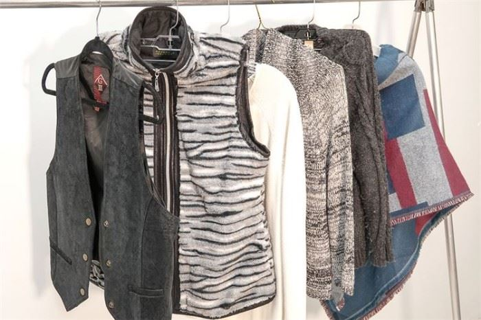 416. Ladys DKNY Sweater and Assortment of Vests