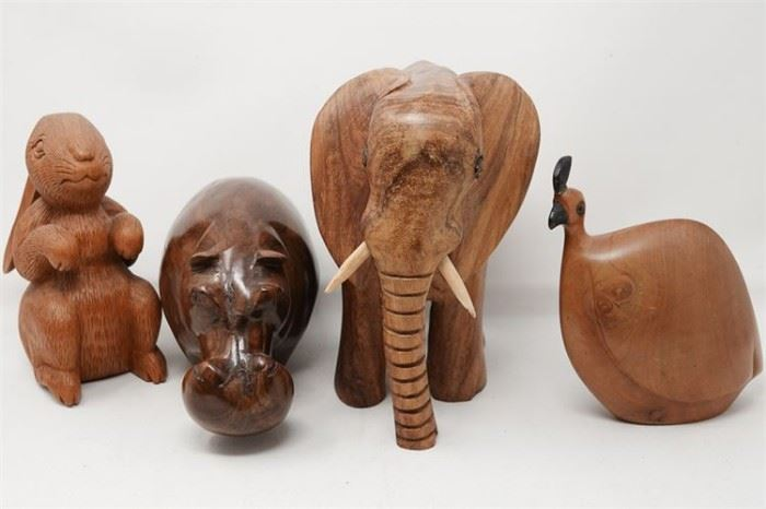 427. Group Lot of Carved Wooden Animals
