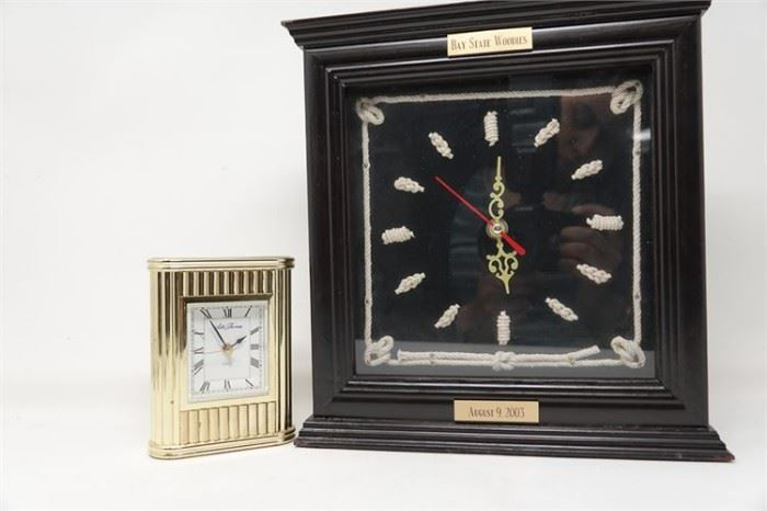 450. SETH THOMAS Brass Desk Clock with one other