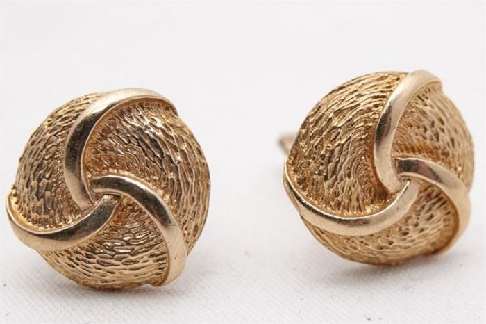 456. Pair of 14 K Yellow Gold Cufflinks