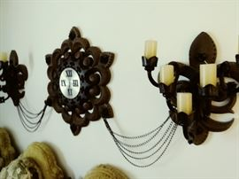 3 piece clock decor