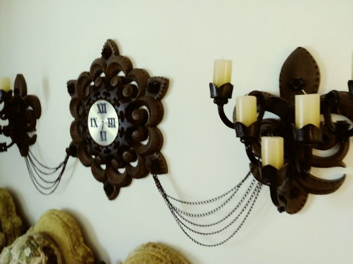 3 piece clock decor