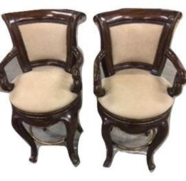 E8- Two Marge Carson Bar-stools