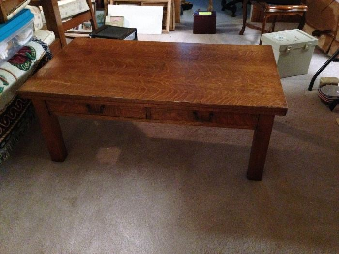 Mission Oak Coffee Table - Condition Good - (Glass to fit  top)