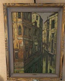 A. Montani oil on canvas Venice c1850