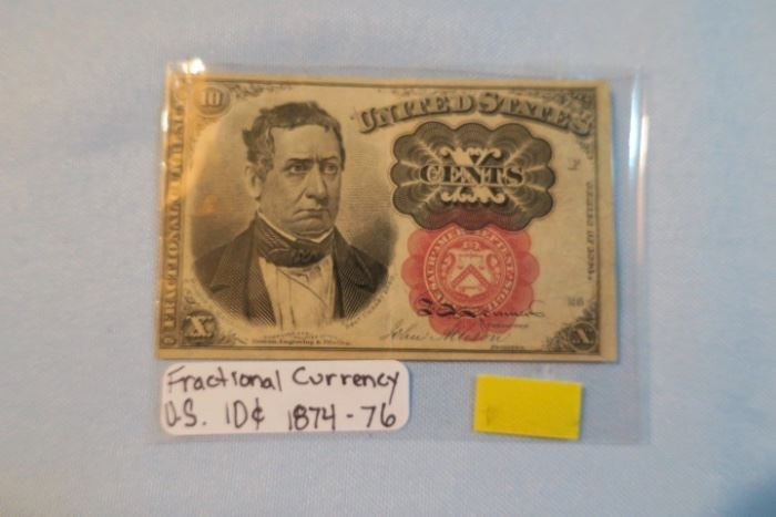1870s Fractional Currency 10 Cents