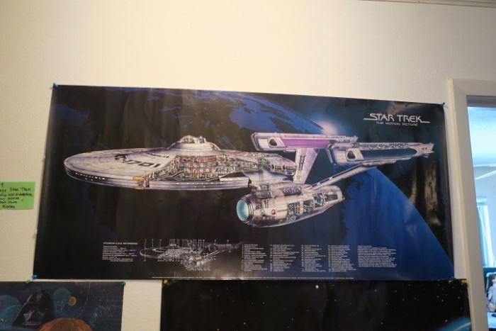 1979 Star Trek Starship USS Enterprise Cutaway Poster - Star Trek Movie - David Kimble