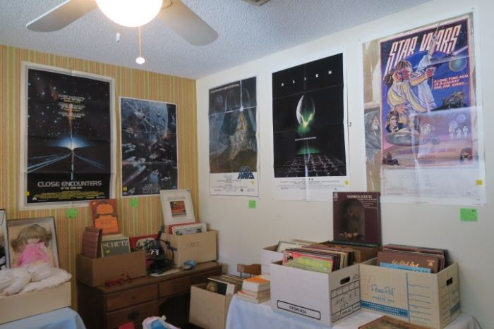 Boxes of Classical Music LPs, Vintage Posters