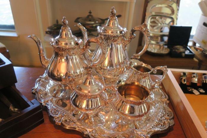 Wallace Grand Baroque STERLING Tea Service