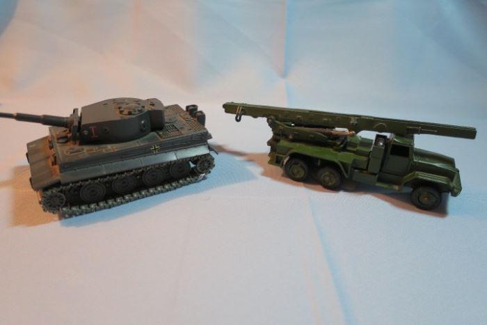 Solido Verem German Tiger Tank, Dinky Toys Missile Launcher