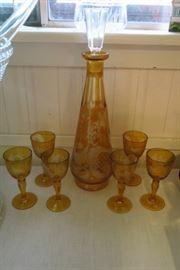 Bohemian Glass Decanter