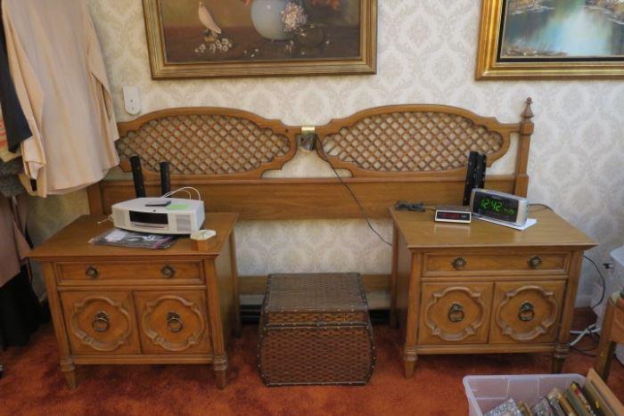 King Headboard, Pair of Nightstands and Triple Dresser - Thomasville Furniture