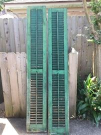 Antique shutters from old Galveston house