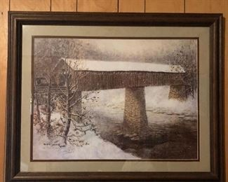 Historic Port Royal Bridge from Clarksville/Adams, TN. Limited print by local artist Billie Young