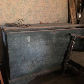 Antique chest with lock possible Sugar or Blanket Chest