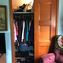 Vintage Purses, shoes, and women's clothing