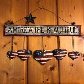 America the Beautiful wall decoration