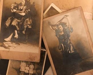 Antique cabinet card photographs by Frank Wendt from his Boonton, NJ studio, the late 1800s to early 1900s