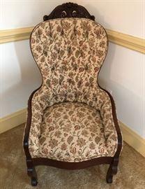 Antique High Back Jacobean Gentleman's Chair