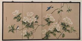 Asian 4 Panel Wall Screen