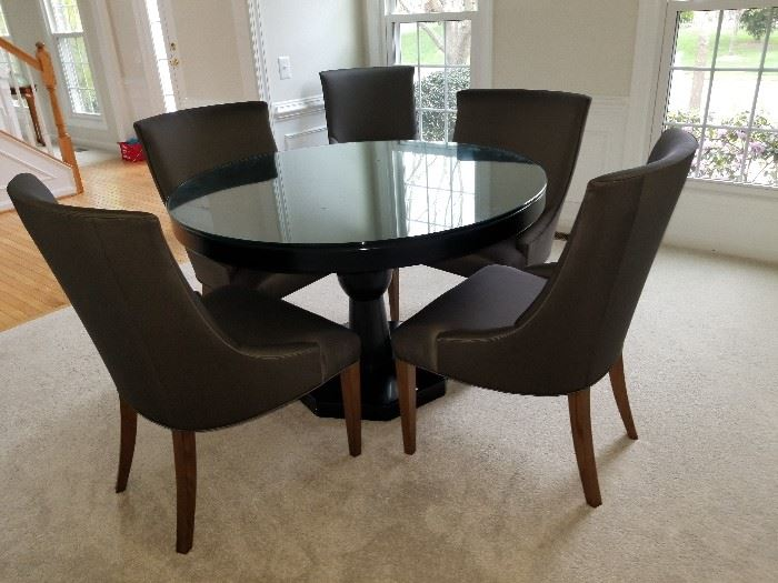 """46"""" Round Dining Room Table and 5 Chairs $350.00"""