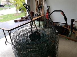 Yard Hand Tools $5.00 Each,  Lawn Mower $100.00, Wheel Barrel $25.00