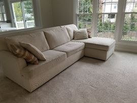 """Cream """"L"""" Couch in Good Condition $150.00"""