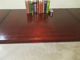 """Drop Leaf Folding Table All Wood in good Condition - both sides fold down Top square is 30""""x 30"""" the leaf is 28"""" x 30"""" - $175.00 Gorgeous piece."""