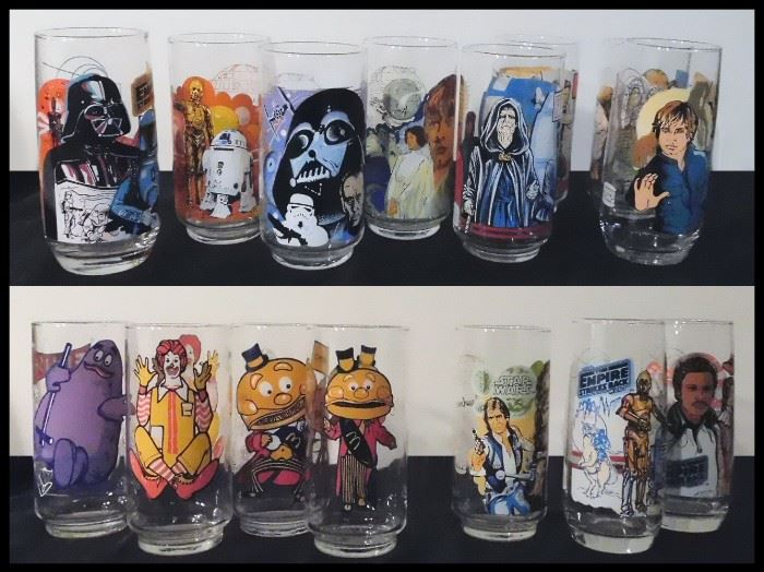1970's - 80's Burger King and McDonald's Collectible Star Wars and more.