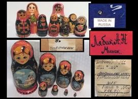 Nesting dolls from Russia .
