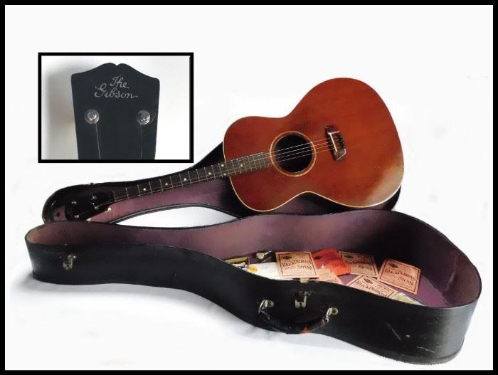 The Gibson. 1930's Tenor Mahogany Guitar no. 9911