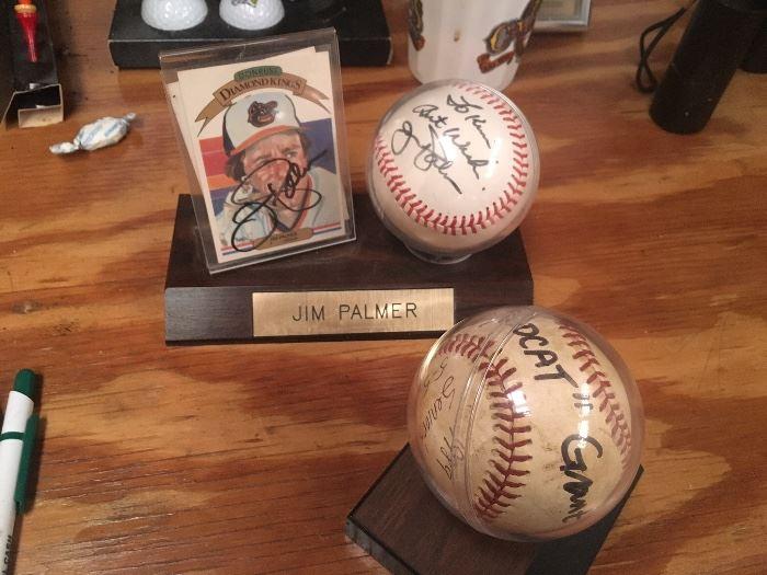 we have 4 signed baseballs