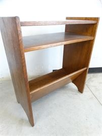 Dark Wood MidCentury Librarians Bookshelf