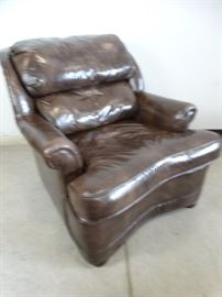 Ethan Allen Brown Leather Chair