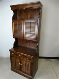 Ethan Allen Hutch Cabinet Top Bottom