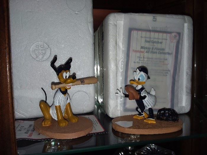 Collectible Disney NY Yankees Figurines