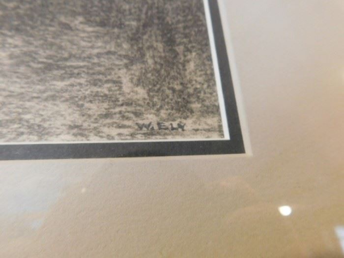 Wolcott Ely Graphic on paper New Mexic Taos Modernist