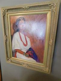 Don Ward Oil on Board New Mexico Artist