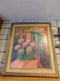 Rod Goebel Oil on canvas New Mexico Artist ( KC art institute graduate )