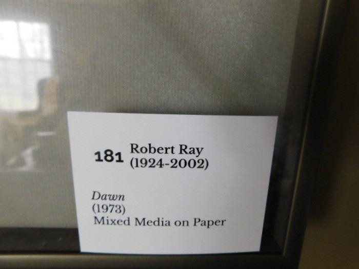 Robert Ray  Mixed Media On paper  ( Dawn ) Taos Modern Artist