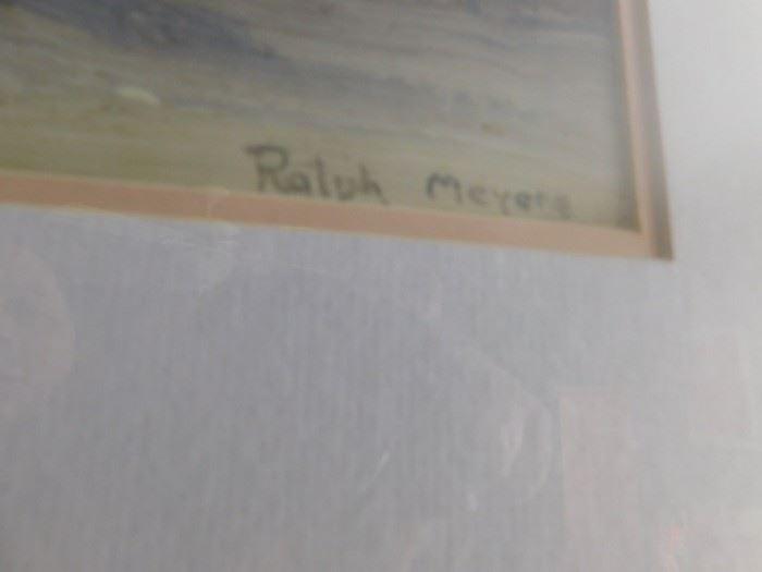 Ralph Myers Print  ( New Mexico Artist)